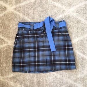 Nike tartan plaid golf skirt w removable shorts